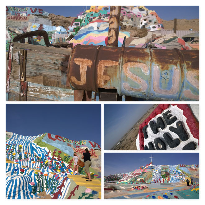 Salvation Mountain collage